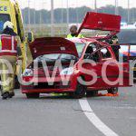 Automobilist gewond door ongeluk op A37 richting Wachtum