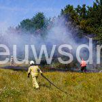 Natuurbrand bij de Kleine Rietplas in Emmen
