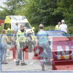 Automobilist ziet scooter over het hoofd op de Splitting in Emmen: scooter total-loss, bestuurster ongedeerd