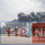 Grote brand op industrieterrein in Veendam