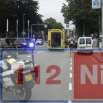 Kop-staartbotsing op de Weerdingerstraat in Emmen. Automobilist raakt gewond door harde klap