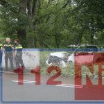 Auto rijdt tegen muur in Emmen, bestuurder gewond